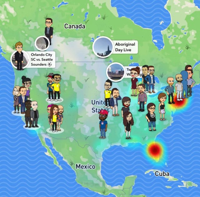 Snapmap feature in SnapChat
