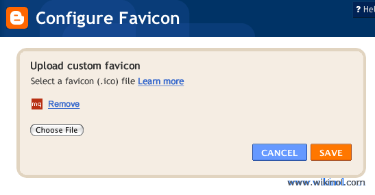 Add Favicon To Your Blogger Blog