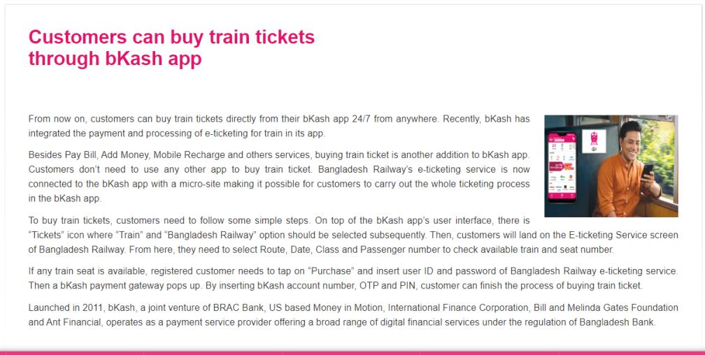 Buy Train Ticket Bkash