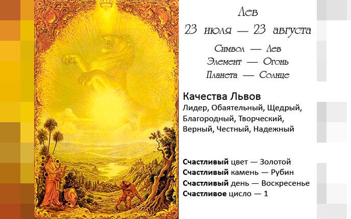 Описание знака зодиака
