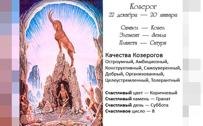 Характер Козерогов