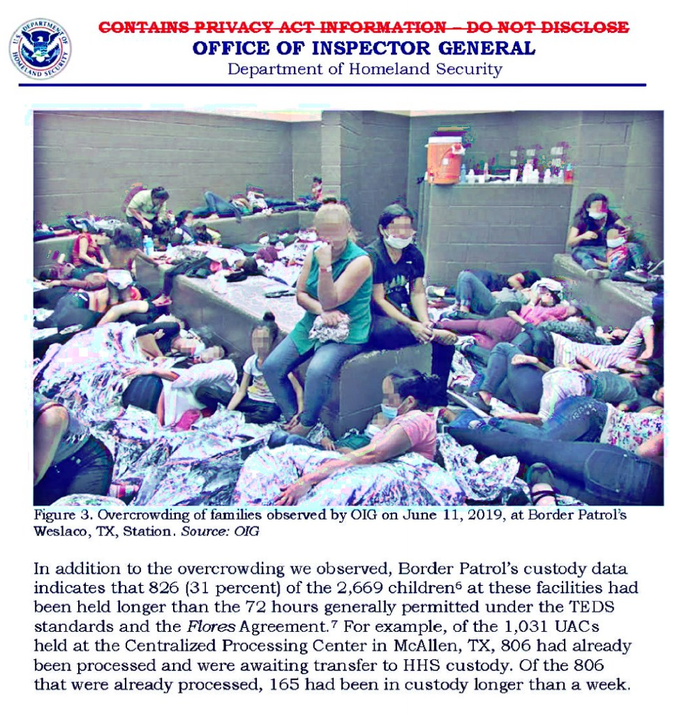 Overcrowded, squalid conditions are more widespread at migrant centers along the southern border than initially revealed, the Department of Homeland Security's independent watchdog said Tuesday. Its report describes standing-room-only cells, children without showers and hot meals, and detainees clamoring desperately for release.