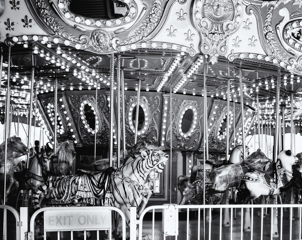 An empty carousel at Bergen County Zoo