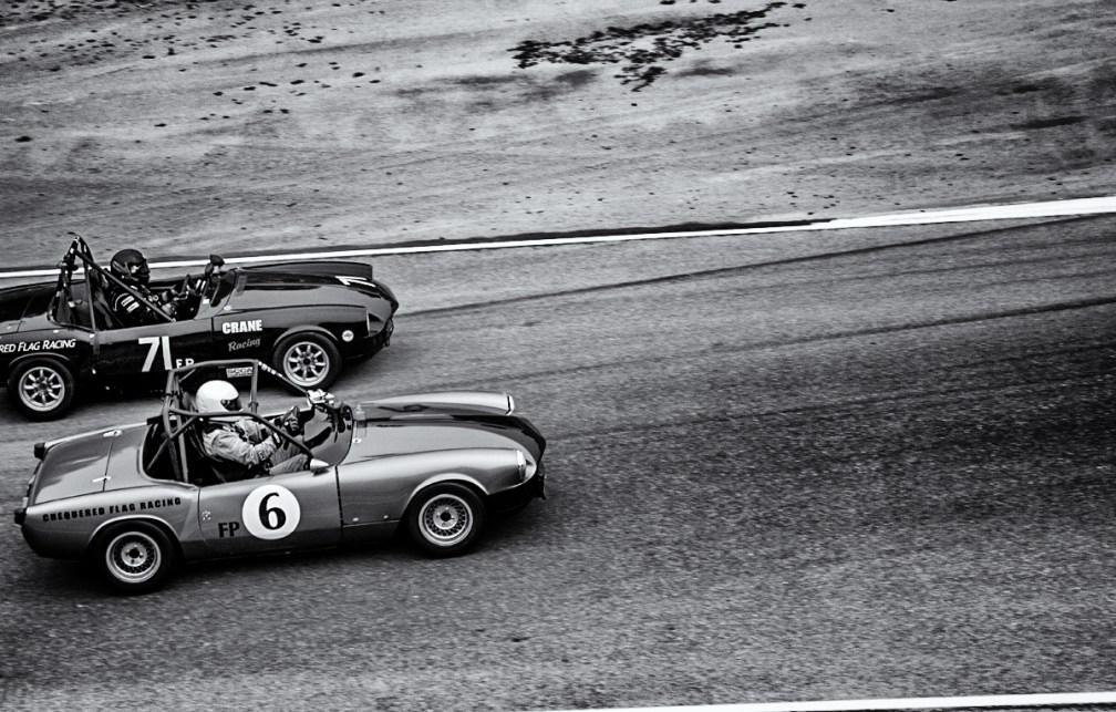 Cars racing at Laguna Seca