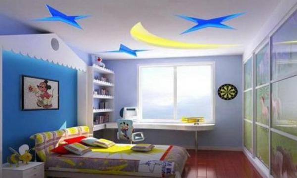 Навесные потолки для детской комнаты - варианты, фото