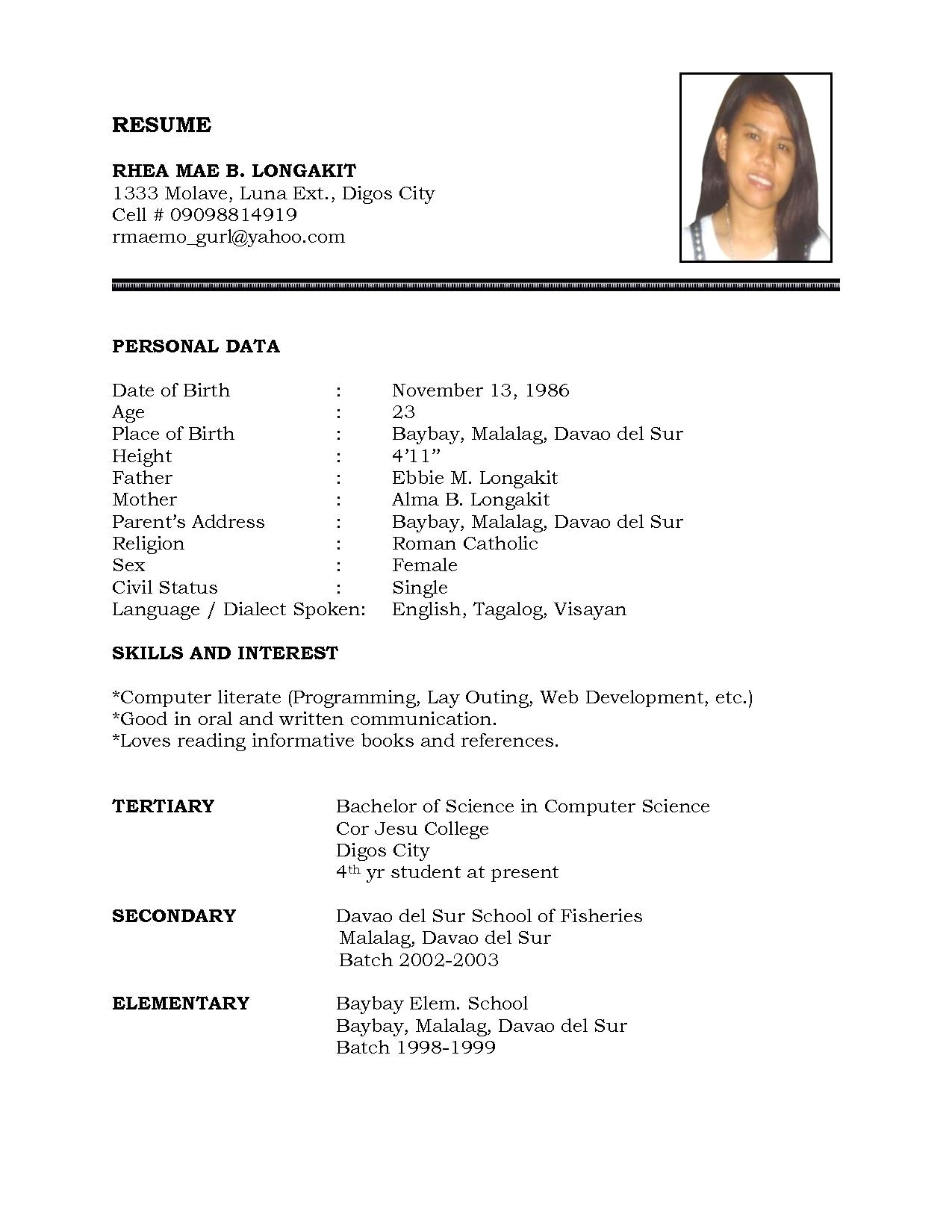 Basic Resume Template Free Resume Template Word Docx Basic Docormat Sampleill In The Blank