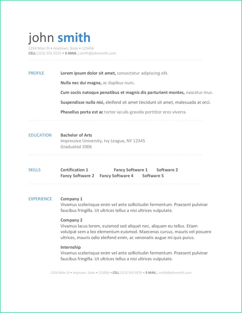 Basic Resume Template Recent Basic Resume Template Word For Modern Templates On