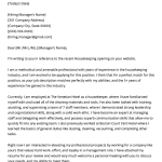 Cover Letter Examples Templates Housekeeper Experienced Cover Letter Example Template cover letter examples templates|wikiresume.com