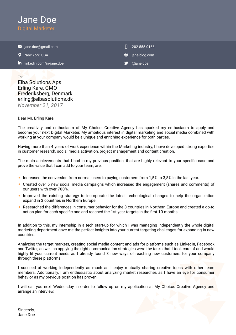 Cover Letters Template  Cover Letter Templates For 2019 Use Land Your Dream Job Now