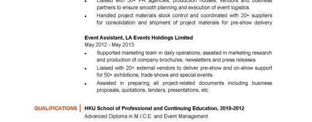 Event Planner Resume 15836 1 event planner resume|wikiresume.com