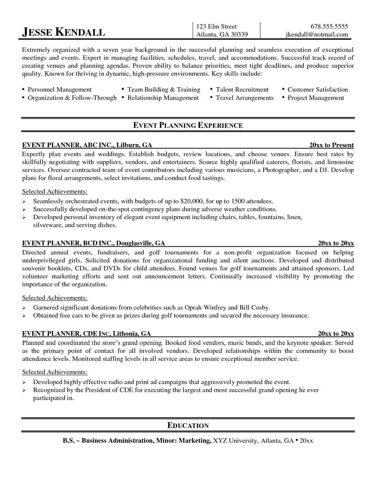 Event Planner Resume Event Planner Resume Now Planning Examples Party Planners Process Manager Cover Letter Writing Template Corporate Events Vancouver Organization Wedding Job Description Coordinato event planner resume|wikiresume.com