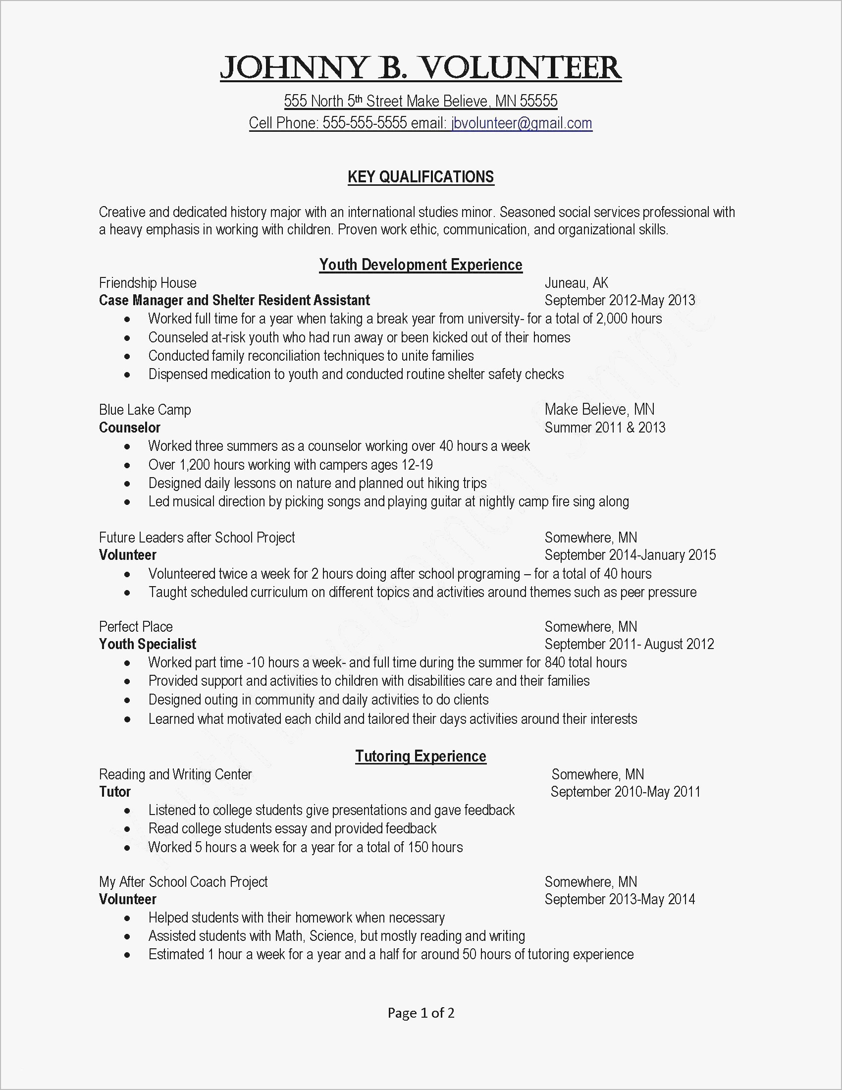 Example Of Resume Example Resumes For College Students New Fresh Sample Resume