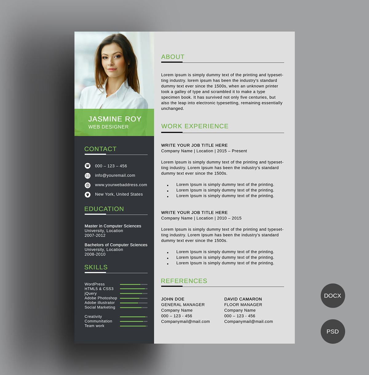 Free Resume Template C7a89962124065 5a859e79780dd free resume template|wikiresume.com