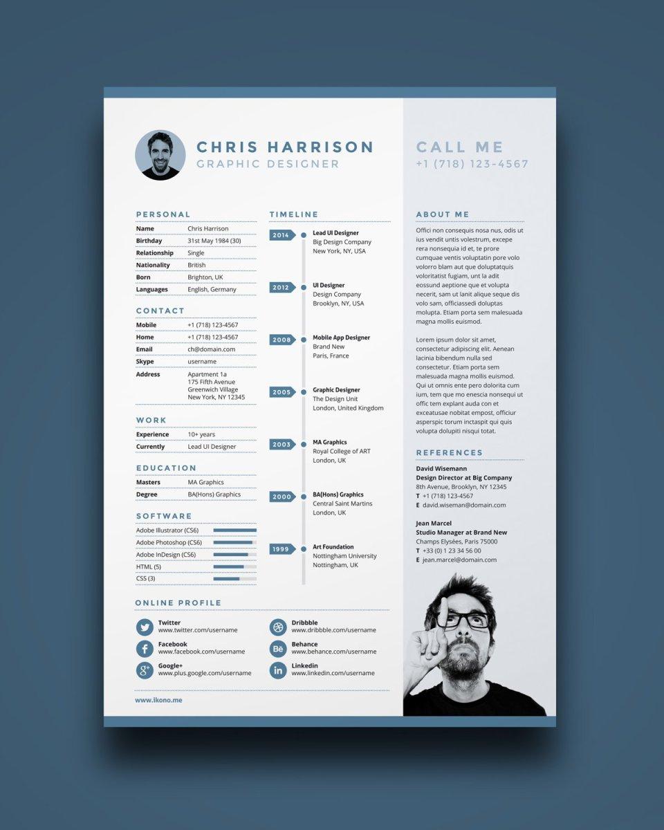 Free Resume Template Free Resume A4 Ikonome free resume template|wikiresume.com