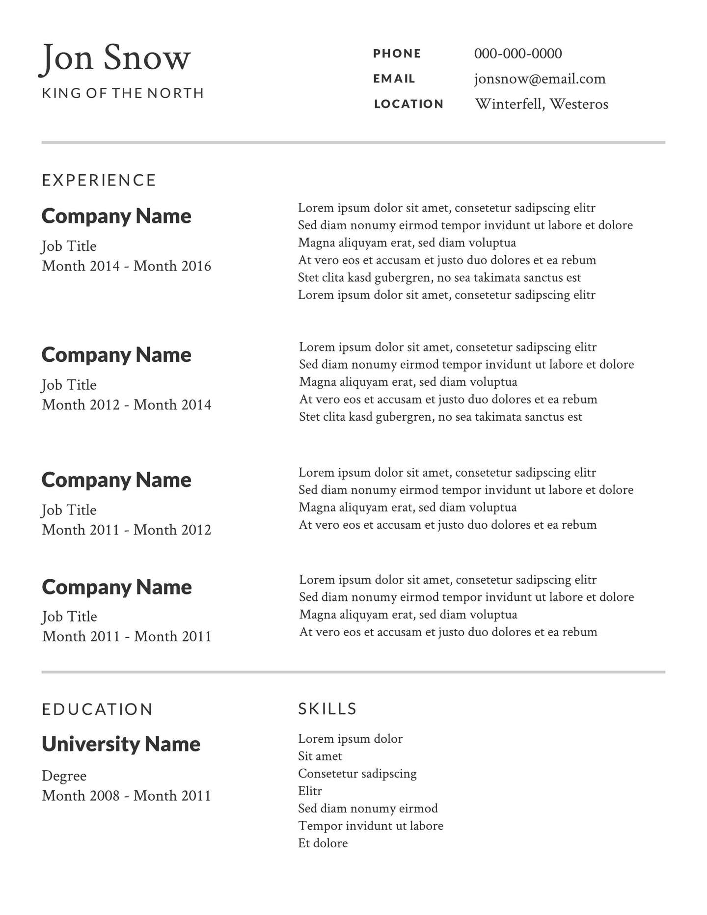Free Resume Template Resume Professional2x free resume template|wikiresume.com