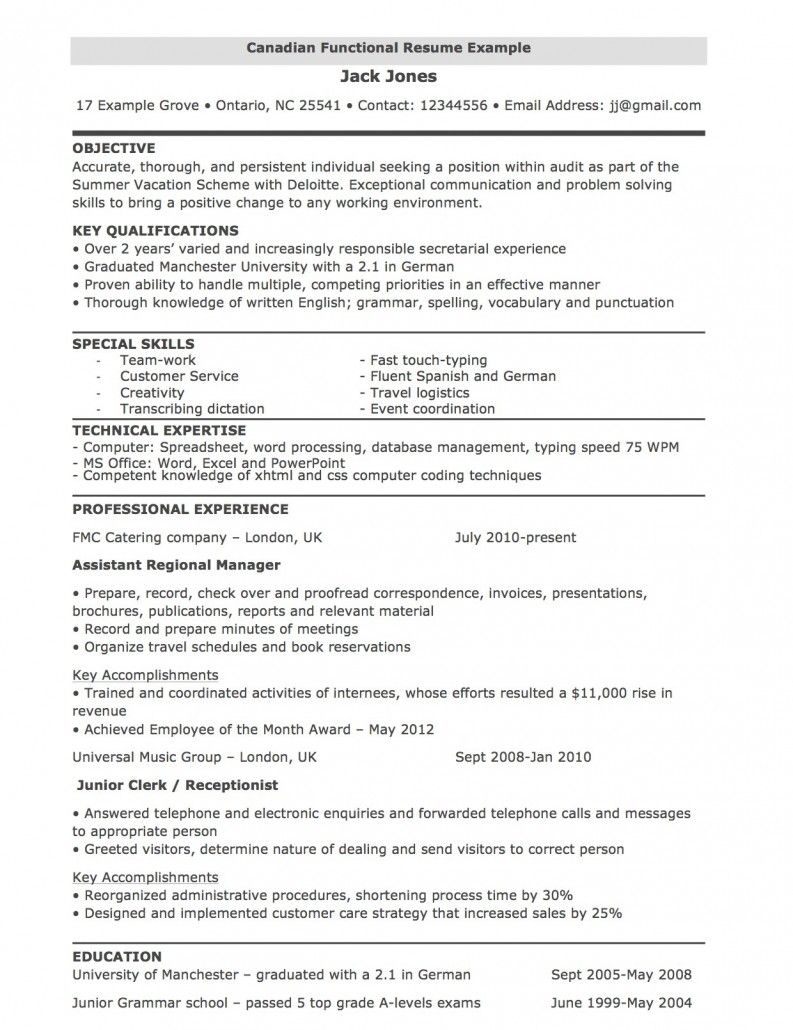 Functional Resume Template Free Resume Templates Canada Documentaciac2b3n Objectiveal Template Word Microsoft Core functional resume template|wikiresume.com
