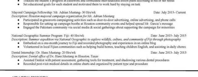 High School Resume Mustangsallyresume Docx Page 2 high school resume|wikiresume.com