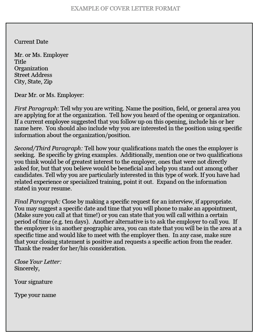 How To Type A Resume Cdo Cover Letter Format how to type a resume|wikiresume.com