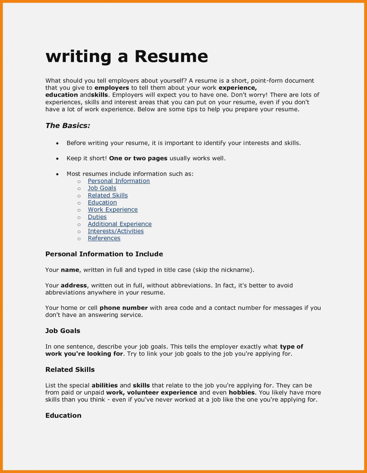 How To Type A Resume Resume How To Write A Resume For A Job High Resolution How To Write Type Of Resume For Job how to type a resume|wikiresume.com