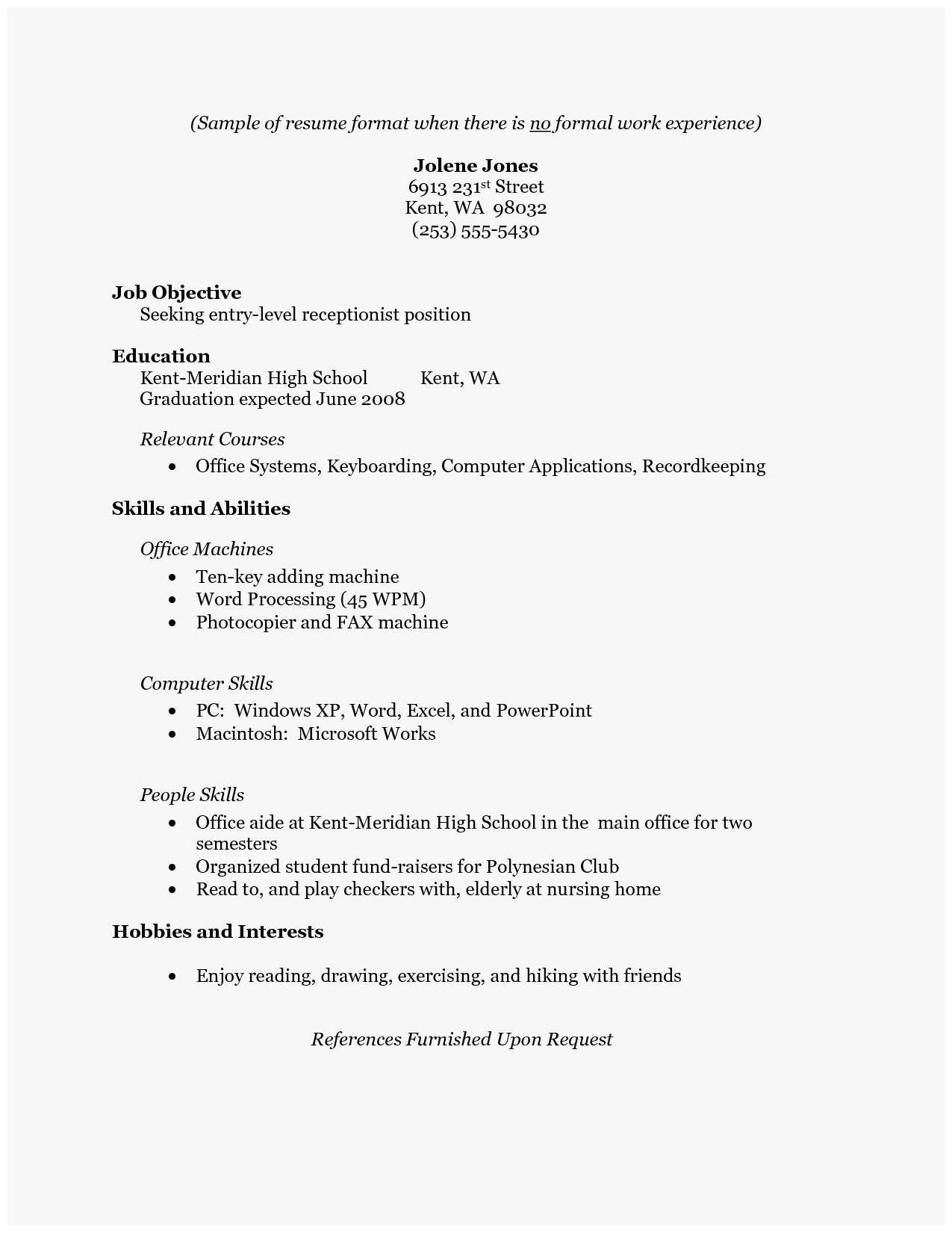How To Write A Resume For A Job How To Write A Resume With No Job Experience New Pin Oleh Jobresume Di Resume Career Termplate Free Of How To Write A Resume With No Job Experience how to write a resume for a job wikiresume.com