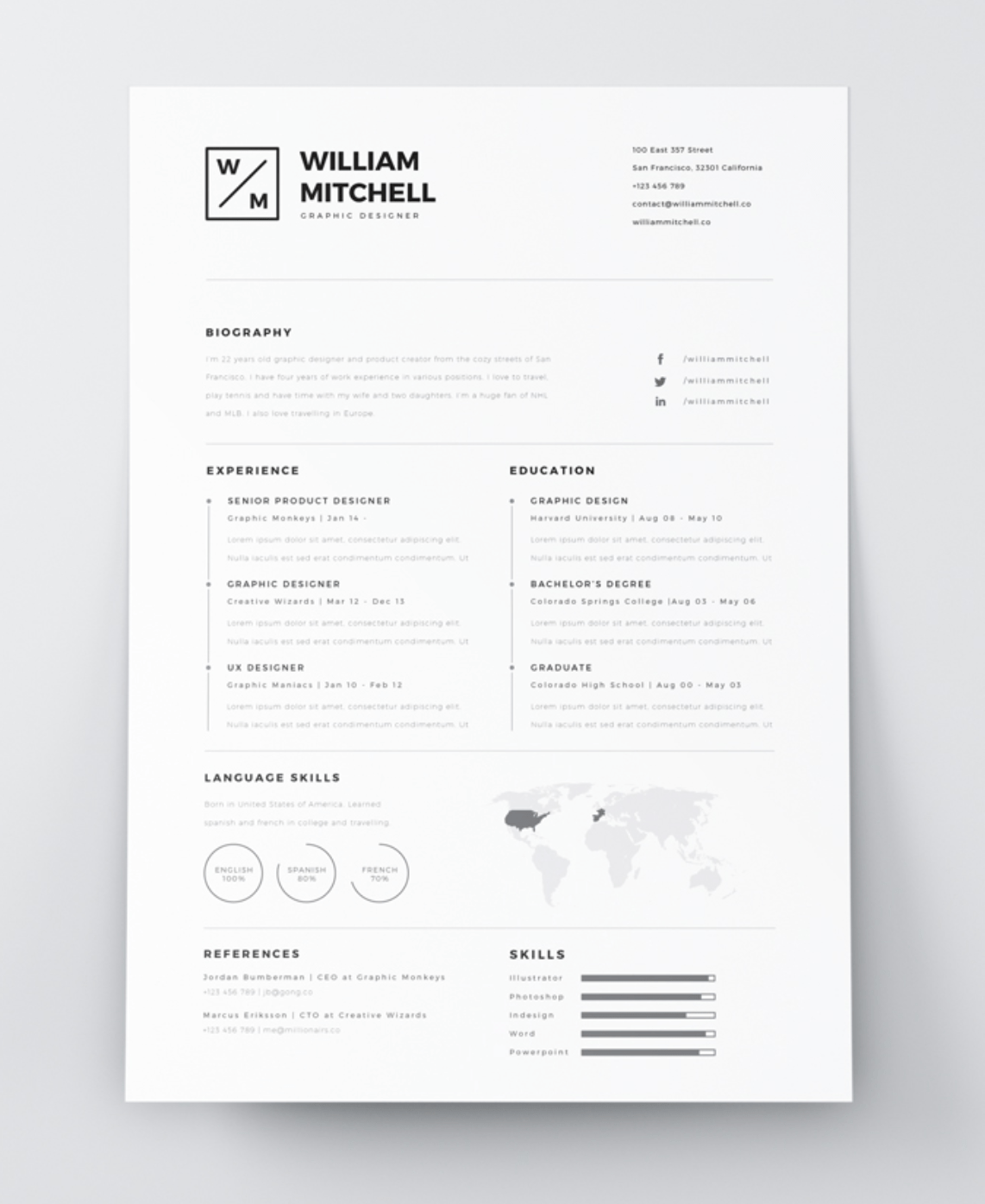 Indesign Resume Template Screen Shot 2018 12 14 At 11 00 49 Am indesign resume template|wikiresume.com