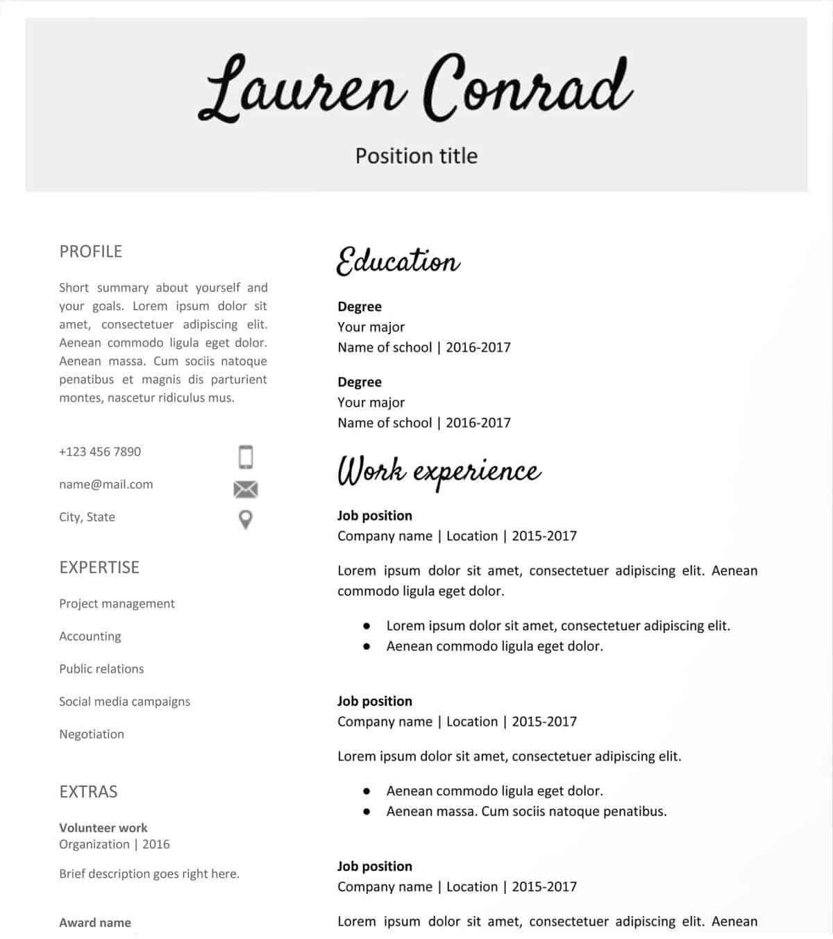 Make A Resume For Free Handwritten Headlines Google Docs Resume Template Free make a resume for free|wikiresume.com