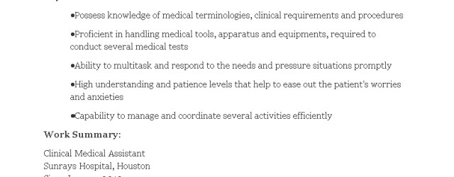 Medical Assistant Resume Free Clinical Medical Assistant Resume Templates At