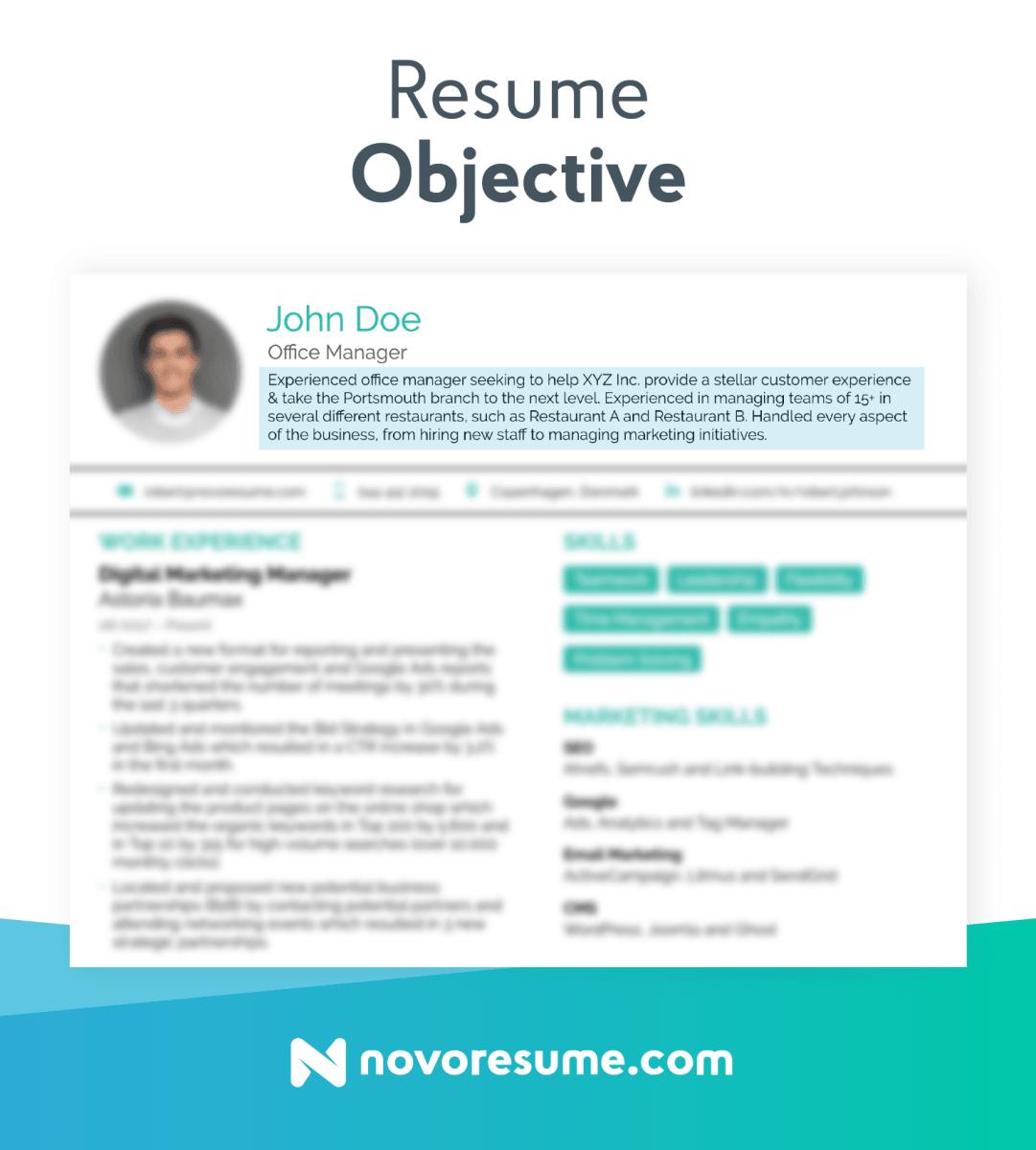 Objective For Resume Resume Objective objective for resume wikiresume.com