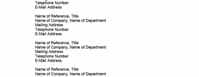 References For Resume Resume Reference Page Write A For Cpbz References On How