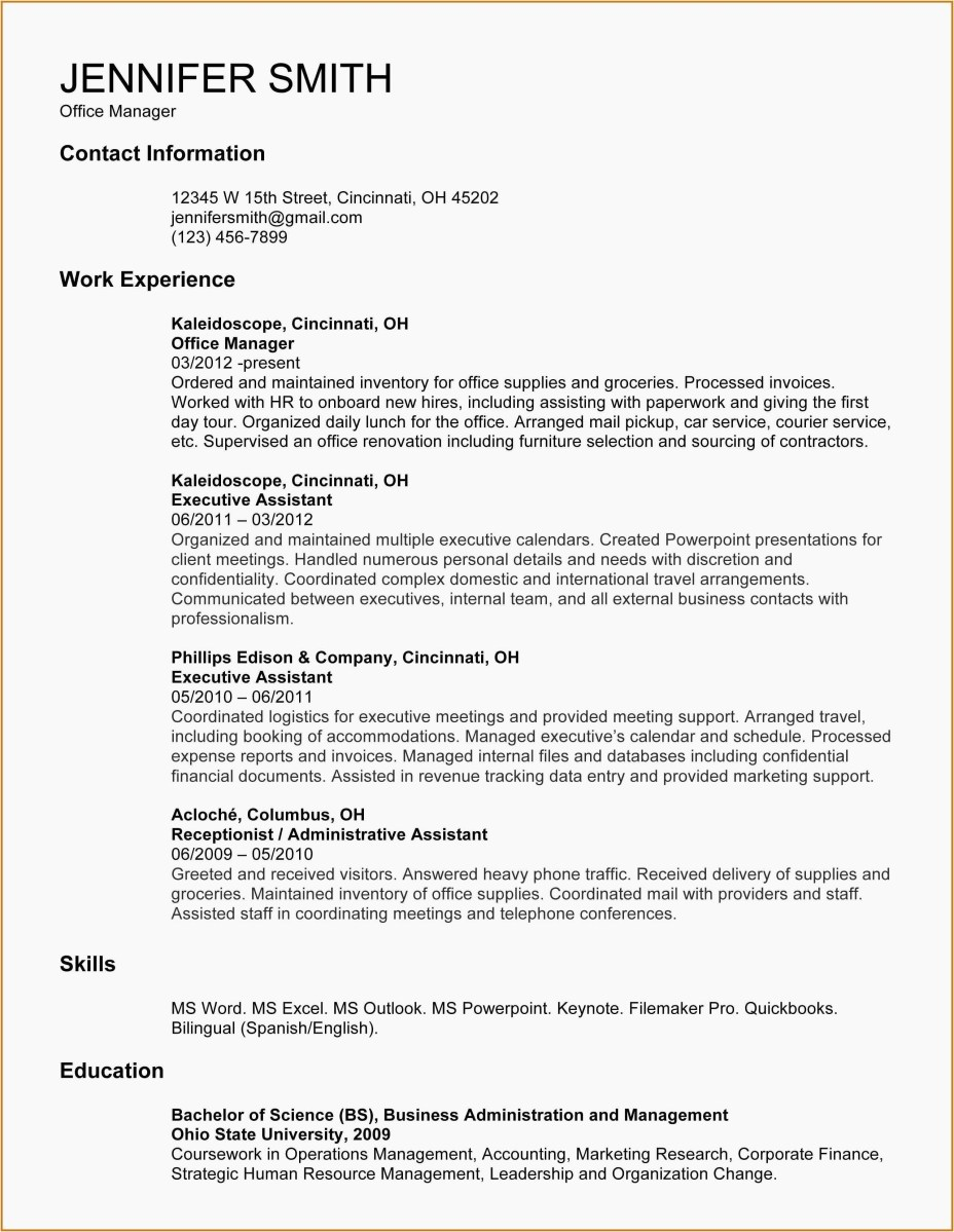 Resume Examples Office  Resume Examples Of Office Assistant Luxury Photos Administrative