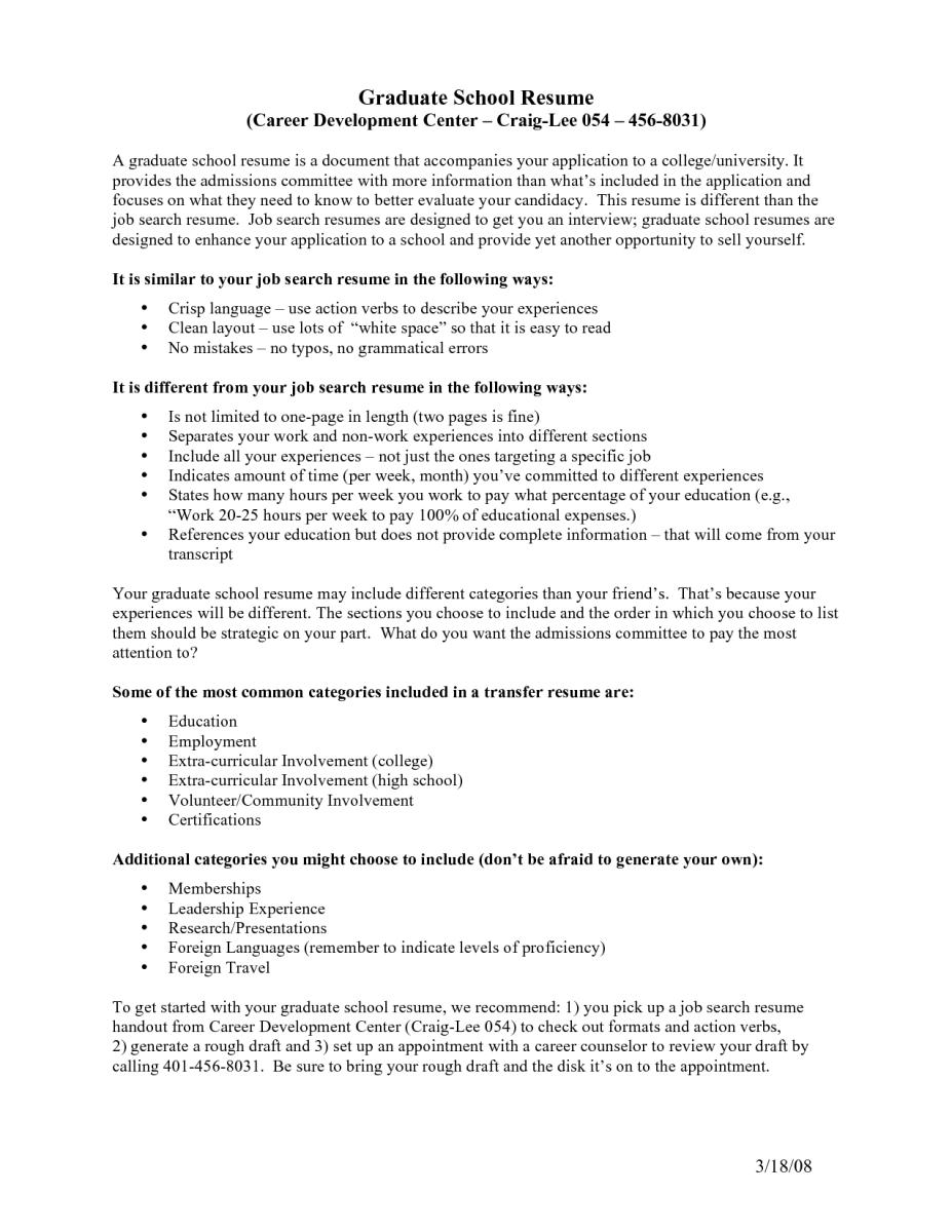 Resume For Graduate School Grad School Resume Sample How To Write A Resume For Graduate School Admission On How To Write A Resume For A Job resume for graduate school wikiresume.com