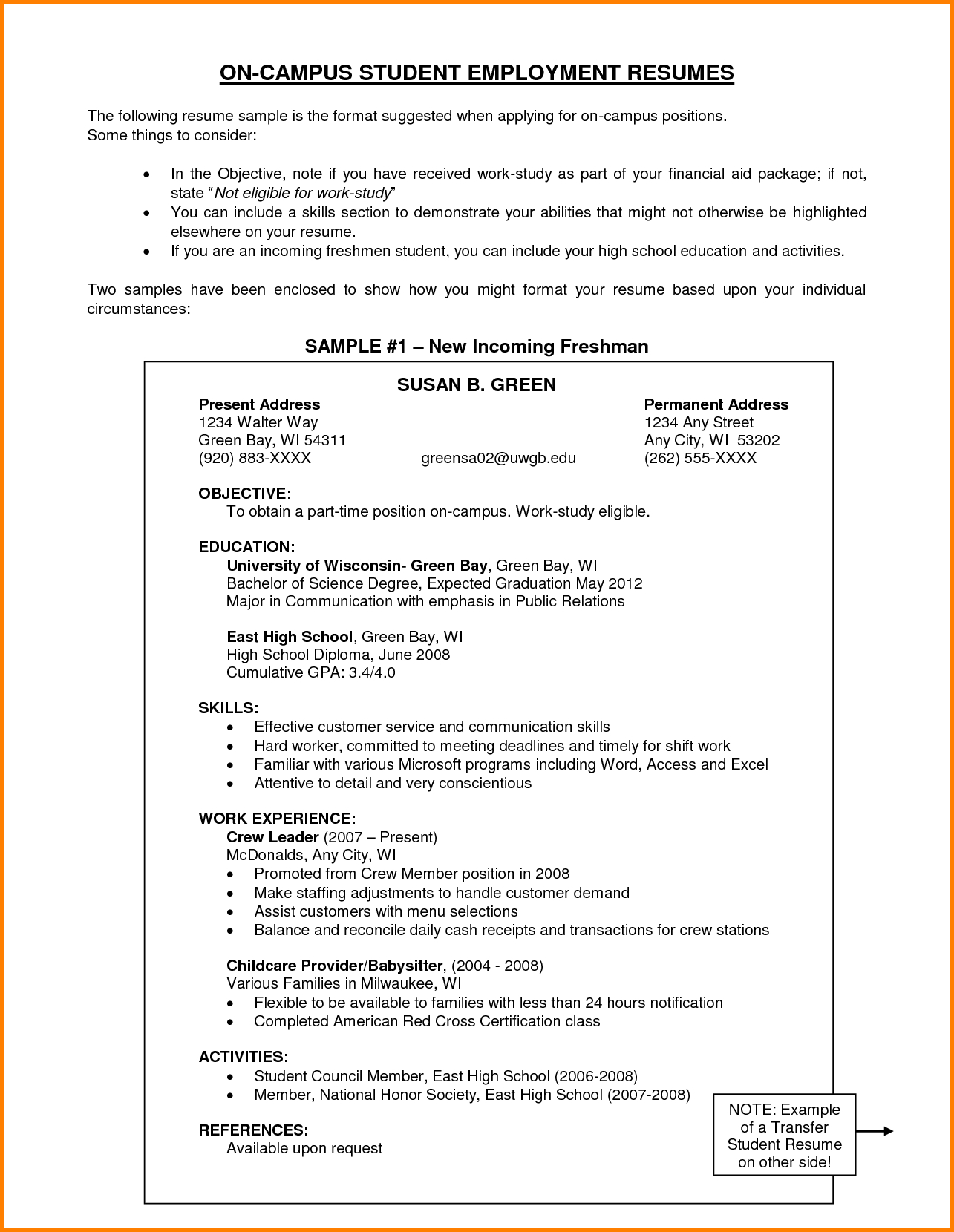 Resume Objective Examples  11 Resume Objective Samples Happy Tots