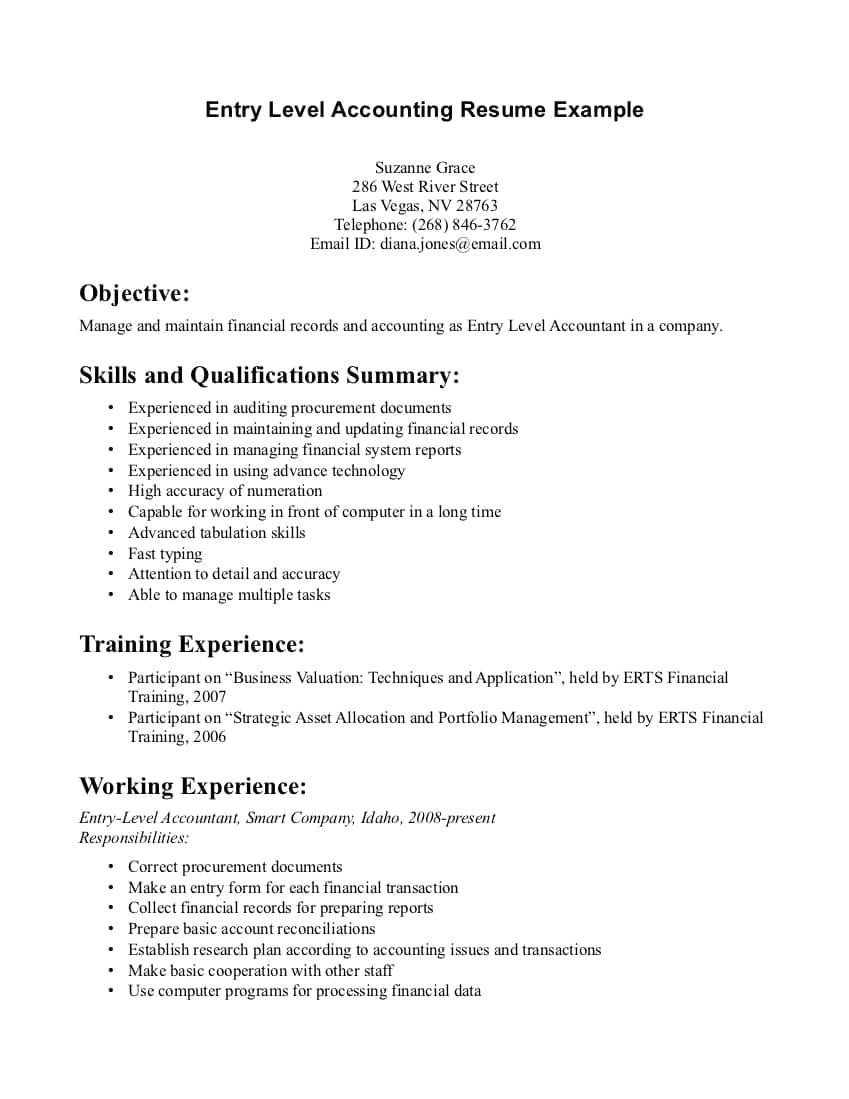 Resume Objective Examples  Entry Level Resume Objective Examples Best Resume Objective Entry