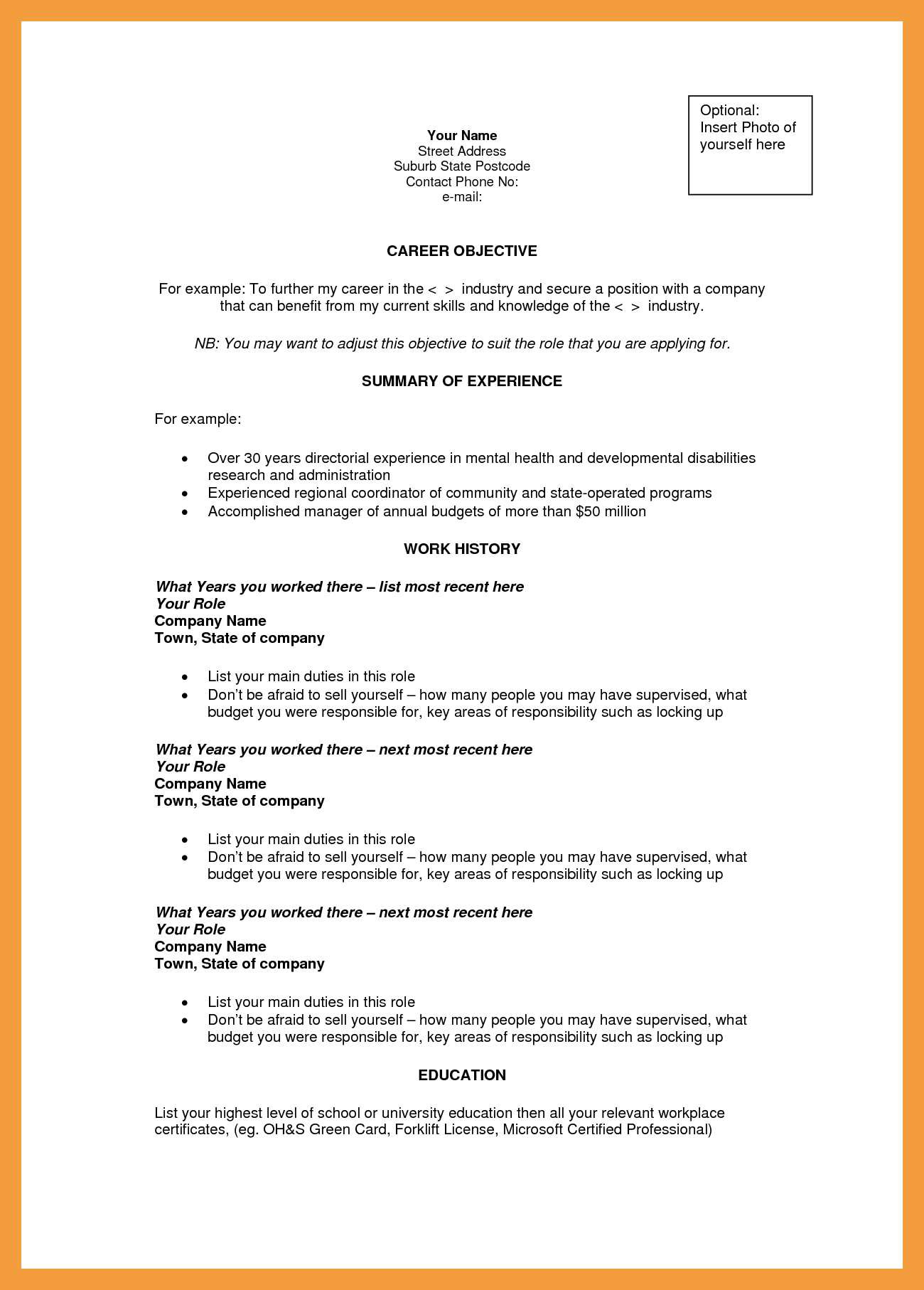 Resume Objective Examples  General Resumejective Template Examples For Any Career Proven Tips