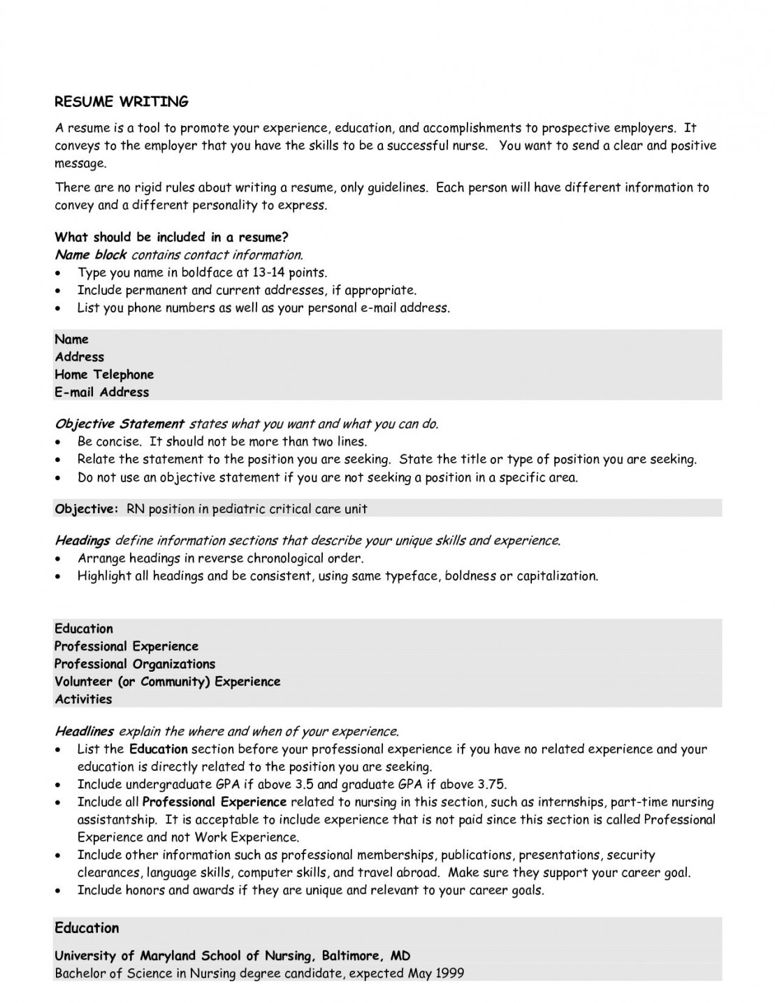 Resume Objective Statement Good Resume Objective Job Finance New Other Examples Statements For The Perfect Resume Objective resume objective statement wikiresume.com