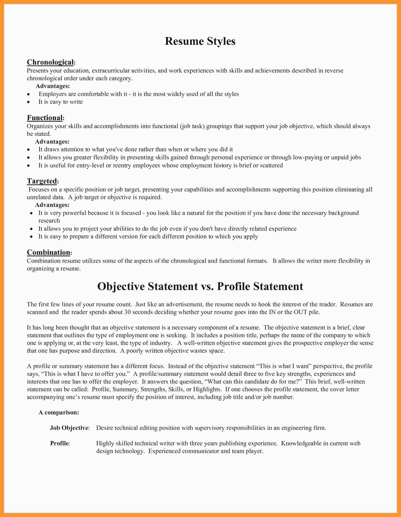 Resume Objective Statement Resume Objectives For It Jobs Objective For Job Resume Example Unique Resume Objective Statements Examples New Unique Examples Resumes Of Objective For Job Resume Example resume objective statement wikiresume.com