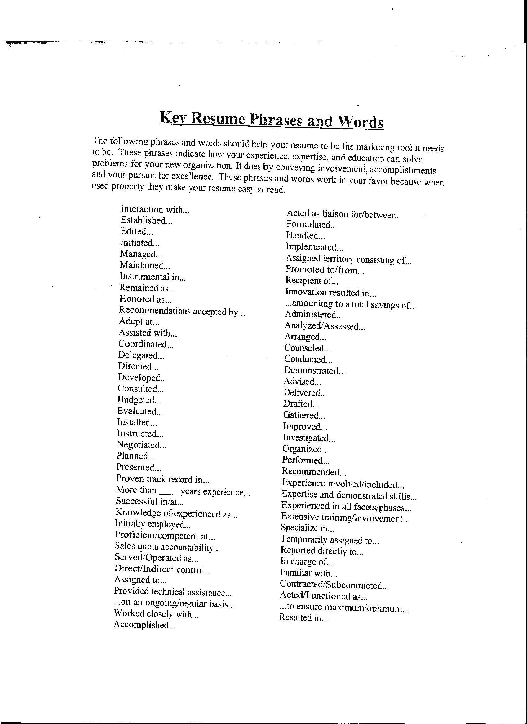 Resume Words To Use Exquisite Top Resume Words The 15 Best And Worst To Use On Resumes