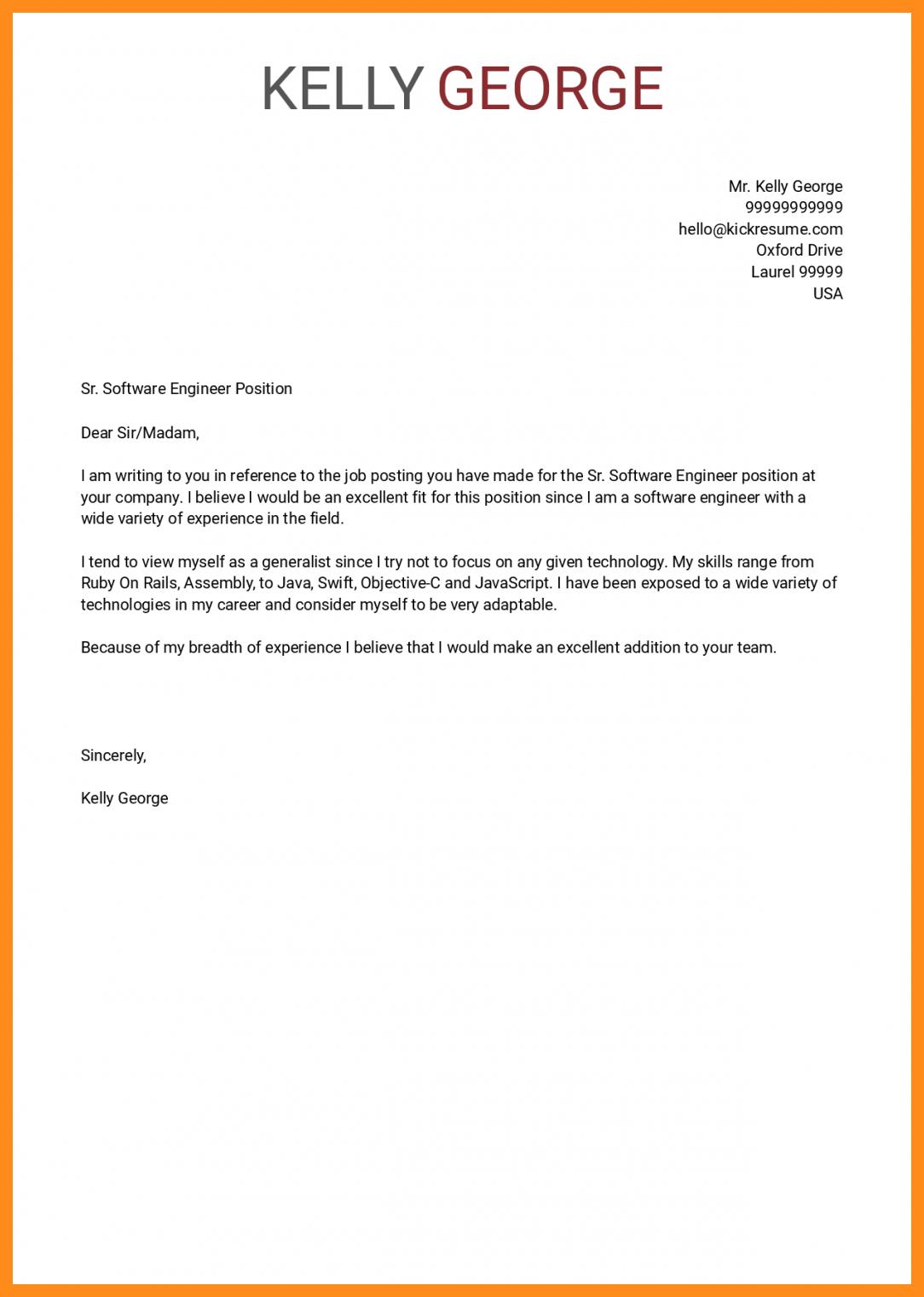 Samples Of Cover Letter  10 11 Software Developer Cover Letter Samples Lascazuelasphilly