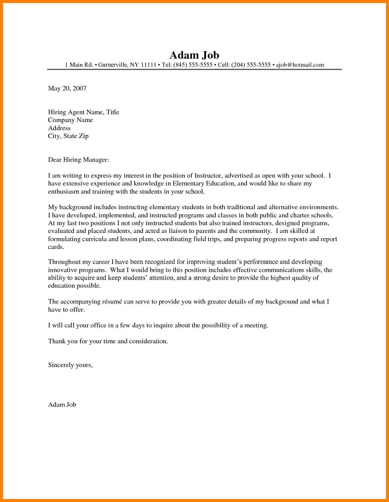Teaching Cover Letter Examples 6 Teaching Cover Letter Examples Wsl Loyd