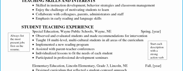 Teaching Resume Template Special Education Teacher Resume Template Best Of Sample Objective