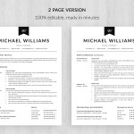 Two Page Resume 4 Two Page Resume Template Michael Templatehippo two page resume wikiresume.com