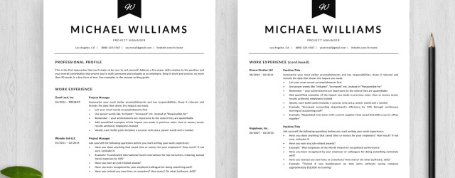 Two Page Resume 4 Two Page Resume Template Michael Templatehippo two page resume|wikiresume.com