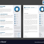 Two Page Resume Professional Cv Resume Template Of Two Pages Vector 15441153 two page resume wikiresume.com