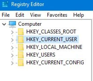 HKEY_CURRENT_USER