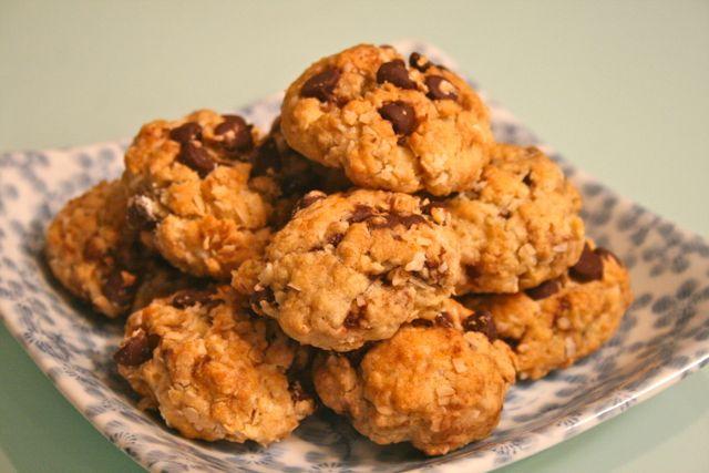 Choc Chip Anzac Biscuits