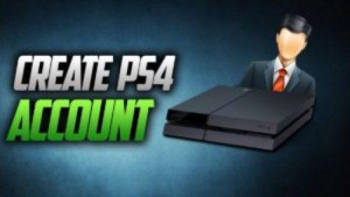 Create PS4 Account