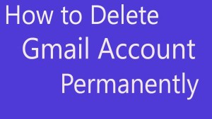 remove gmail account