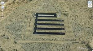 Multiple Landing Strips in the Desert