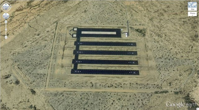 Multiple Landing Strips in the Desert