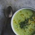 Creamy Broccoli Fennel Soup with Meyer Lemon